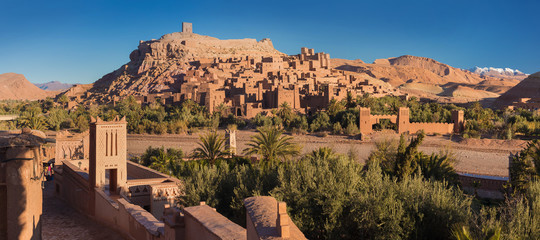 Ait Benhaddou is the best preserved of the traditional Ksars and UNESCO world heritage since 1987 The fortified town of Ait ben Haddou near Ouarzazate on the edge of the sahara desert in Morocco.