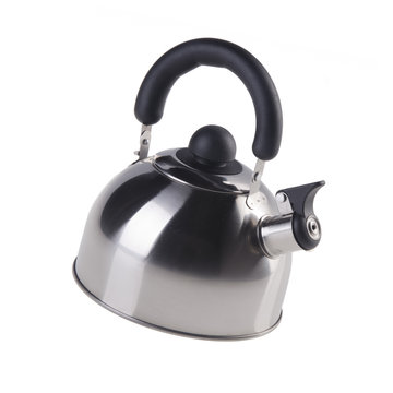 kettle or Stovetop whistling kettle on background new.