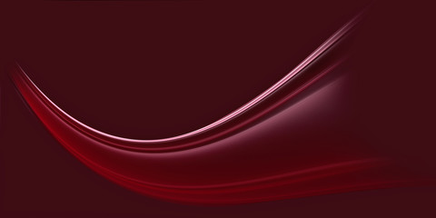 Poster Fractal waves Beautiful fractal wave on a cherry background. Wallpaper