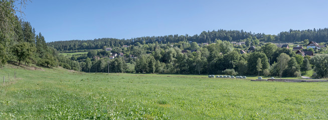 green landscape of Heimbach valley, near Betzweiler, Black Forest, Germany