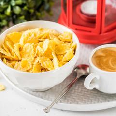 Cornflakes, Milk and Coffee