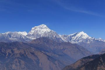 Foto op Plexiglas Bergen Beautiful peak of Annapurna on Annapurna Circuit in Himalaya Range, Pokhara, Nepal
