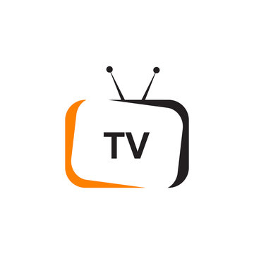 TV channel program icon logo design vector template