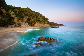 Fototapete - Amazing seascape with cliffs and turquoise water