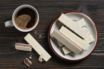 Coffee and wafers