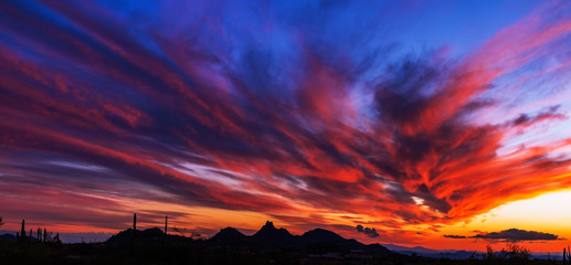 Poster Crimson Epic Sunset Skies Over North Scottsdale Arizona