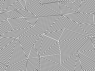 Foto auf AluDibond Künstlich Abstract striped seamless background. Black and white design - triangle creative textile endless texture. Fashion polygon repeatable pattern