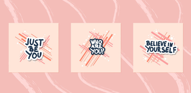 Who are you stylized text. Vector hand drawn quote