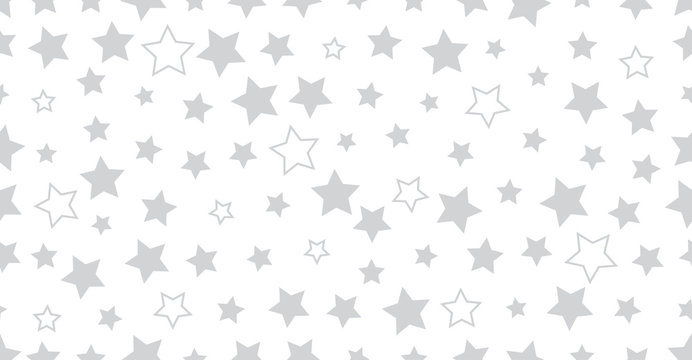Silver star seamless vector background. Abstract geometric pattern for web business and graphic designs.
