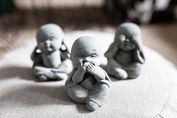 Three little Buddha's
