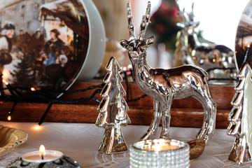 Weihnachtliches Konzept - Detail einer Stillleben-Dekoration