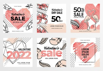 Rustic Valentine's Day Banner Layouts for Social Media