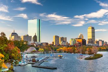 Boston, Massachusetts, USA skyline on the Charles River Fotomurales