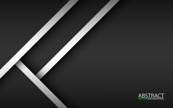 Abstract background with black and white layers above each other, modern design template for your business, vector illustration with oblique stripes and lines