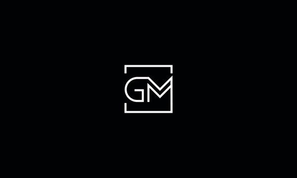 Alphabet letters monogram icon logo GM
