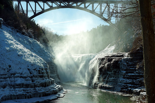 General view of Letchworth State Park.