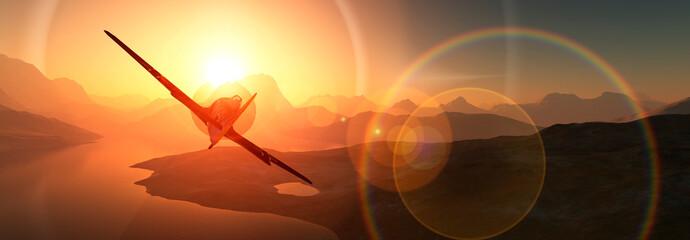 sun, sand and plane