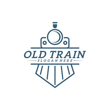 Classic train logo concept, Locomotive logo design vector template, Creative design, icon symbol