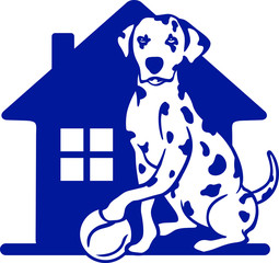 Wall Mural - Dalmatian house holds the ball