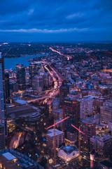 Downtown Seattle Washington at Sunset