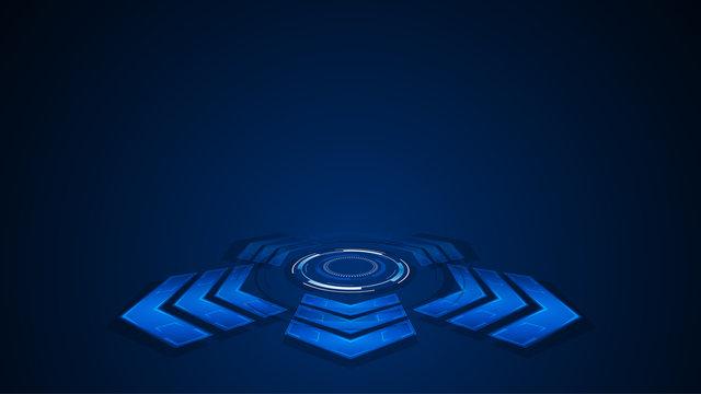 arrow shape tech background futuristic concept design