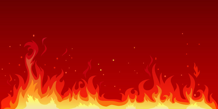 Vector illustration of a hot flame that is spreading. The heat of the fire blaze. Flame background illustration graphic resources.