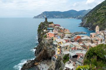 Vernazza of the coastal area Cinque Terre in the Italian province La Spezia Fotobehang