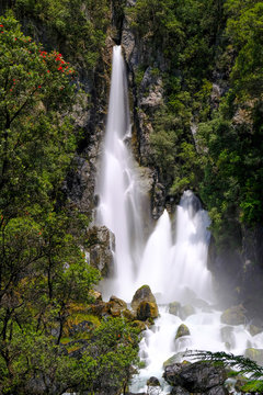 Tarawera Falls, Bay of Plenty, North Island New Zealand