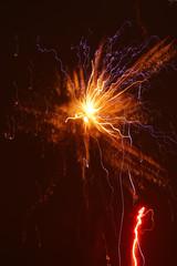 Foto op Textielframe Vulkaan Rakete und Feuerwerk