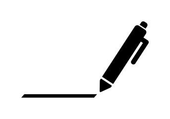 Obraz długopis ikona - fototapety do salonu