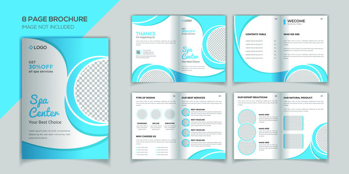 Spa 8 pages brochure design template
