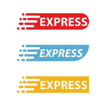 express logo template design vector icon illustration