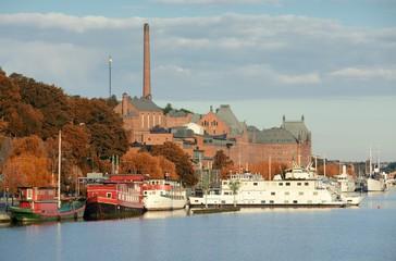 Soder Malarstrand in autumn.  Stockholm in Sweden