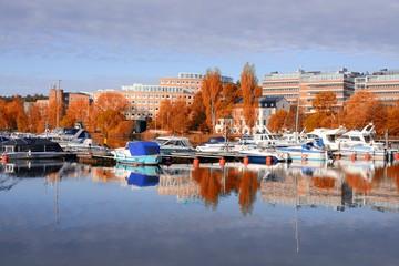 Alvik in autumn. Stockholm - Sweden
