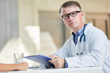 Doctor as chief physician or clinic director with authority