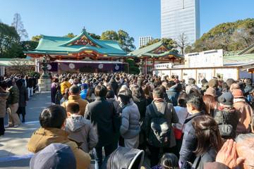 日枝神社の初詣 Fototapete