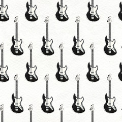 Seamless Rock background. Abstract music modern pattern.