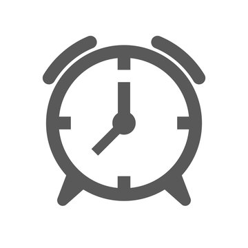 Alarm clock icon. Minimalistic performance. Isolated vector on a white background