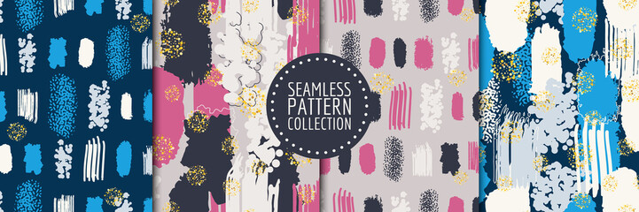 Photo Blinds Pattern Abstract shapes seamless pattern collection. Vector design for paper, fabric, interior decor and cover