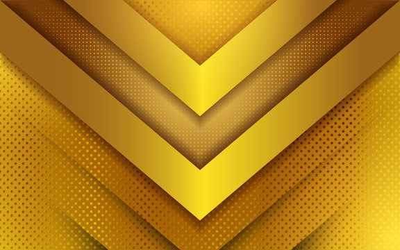 Luxury modern gold background. Realistic light effect on textured background.