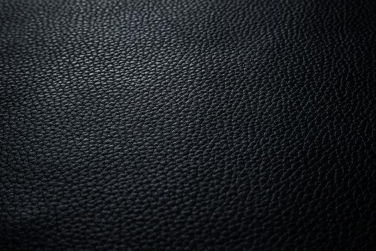 Texture cuir grainé noir charbon anthracite