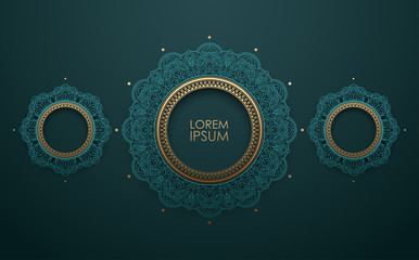 Vintage decorative circle ornament background