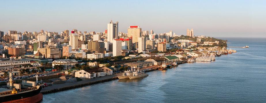 Maputo downtown cityscape, capital city of Mozambique,
