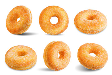 Donut on a white isolated background
