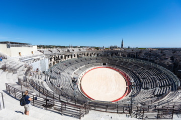 Ancient roman Arena of Nimes, France