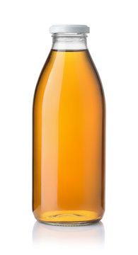 Glass  bottle of apple juice