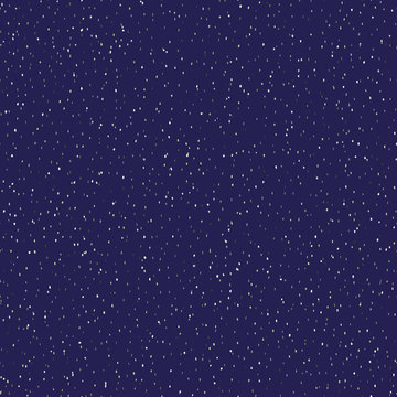 Classic blue starry night glow specks seamless texture pattern. Variegated speckled dark  background.  Abstract space sky or cosmos galaxy allover print. Magic glitter dust repeat vector swatch.