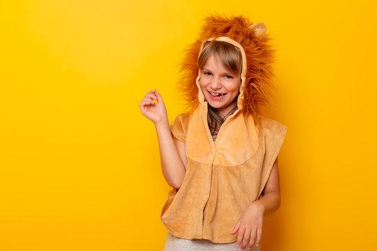 Little girl in carnival costume