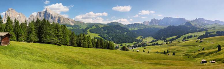 Fotobehang Alpen Mountain views from Alpe di Siusi or Seiser Alm, Dolomites Alps , Italy