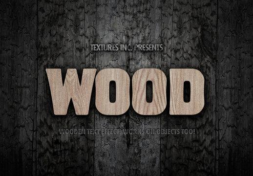 Wood Grain Text Effect